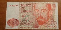 1980 - Espagne - Spain - 2000 PESETAS, 22 De Julio De 1980, 1W 900719 - [ 4] 1975-… : Juan Carlos I