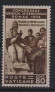 1935 Italia Vaticano Congresso Giuridico Internazionale 80 C. MLH - Vaticano