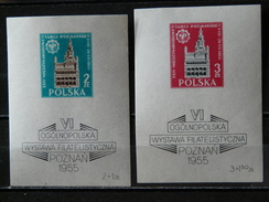 POLOGNE - 1955 BF N° 14 & 15 ** - Blocks & Kleinbögen