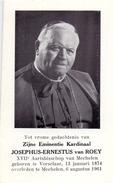 Devotie - Doodsprentje - Kardinaal Joseph Van Roey - Vorselaar 1874 - Mechelen 1961 - Obituary Notices
