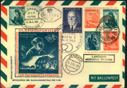 1853, Privatgsanzsache Mit Zusatzfrankatur BALLONPOST SALZBURG