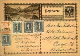 1939, Bildganzsache Mit Zusatzfrankatur  Ab SELLRAIN Nach USA