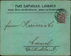 1908, 10  Heller Privatumschlag Ab LAIBACH, LJUBLJANA Nach Cassel