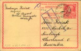 1916, 10 H. Ganzsachenkarte  Ab ST. RUPPERTEN, KRAIN Mit Zensur Nach USA