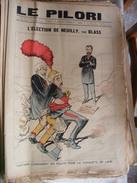 Journal LE PILORI  9 Février 1890 , 545mm X 378mm Election De Neuilly Par BLASS  - état De Collection - Kranten