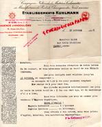 16 - ANGOULEME - LETTRE  ETS. KUHLMANN- MANUFACTURE PRODUITS CHIMIQUES DU NORD- 96 AV. JULES FERRY- 1938 - France
