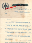 16 - ANGOULEME - FACTURE F. CORDEBART- R. MICHAUD- FONDERIE FONDEUR- 1920 - France