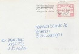 1993 SWITZERLAND Cover SLOGAN  VIDEOTEX TELEPHONE Telecom Broadcasting Video Stamps Meter Atm Frama? - Telecom