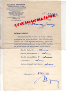 16 - ANGOULEME - ANALYSE DE SANG- PHARMACIEN MAURICE DOGNON- PHARMACIE-40 RUE MARENGO- 1933 - 1900 – 1949