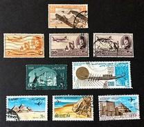 1946-1982 Poste Aérienne Yvert PA 18,32,36,50,83,133,142,153,167 - Poste Aérienne