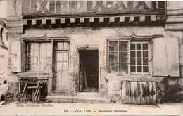 Cpa 89  AVALLON   Ancienne Boutique - Avallon