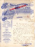 16 - ANGOULEME - BELLE FACTURE GENEVIERE BONNIOT-GRANDE MANUFACTURE CARREAUX ET PAVES- USINE ROYAN- LA ROCHELLE-1906 - France