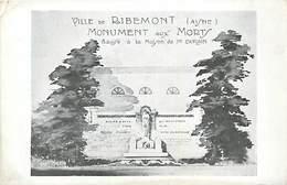 A-17-2804 : MONUMENT AUX MORTS DE LA GRANDE-GUERRE 1914-1918. RIBEMONT - Sonstige Gemeinden