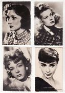 Lot De 66 Cartes Postales Anciennes   Artistes   Edith Piaf, Hallyday, Brel, Elvis, Delon, Belmondo  Etc... - Célébrités