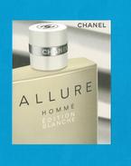 Cartes Parfumées Carte CHANEL ALLURE HOMME EDITION BLANCHE De CHANEL  RECTO VERSO CARTE AMÉRICAINE - Perfume Cards