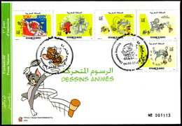 MAROC MOROCCO 2011 FDC Tom & Jerry Playing Tennis Comics BD Disney Cartoons - Disney