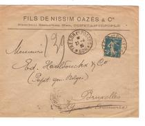 TP Semeuse S/L.c.Trésors Et Postes 506 21/4/1920 V.Bruxelles C.d'arrivée PR4026 - Levant (1885-1946)