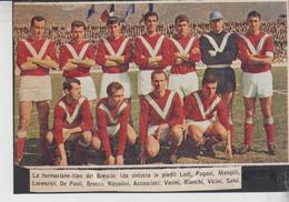Calcio Football Soccer Brescia 1965 Su Cartoncino D'epoca - Vecchi Documenti