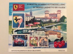 Foglietto Erinnofilo Ferrari Club Vignola Con Annullo IV Mostra Scambio 17-11-1996 - Automobilismo