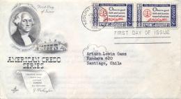 USA 1960 FDC American Credo: George Washington Quotation