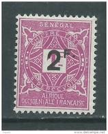 Sénégal  Taxe N° 20 X 2 F. Sur 1 F. Lilas-rose Trace De Charnière Sinon TB