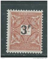 Sénégal  Taxe N° 21 X 3f. Sur 1 F. Brun-jaune Trace De Charnière Sinon TB