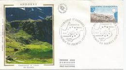 ANDORRA. Les Pyrénées (Communauté France-Andorre-Espagne) FDC 1984