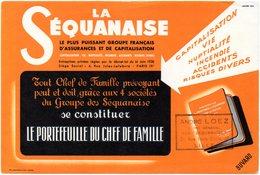 Buvard La Sequanaise, Assurances Et Capitalisation. Cachet : A. Loez, Lille. - Banque & Assurance