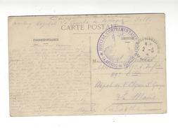 """CACHET Hôpital Militaire 407 La Guerche De Bretagne Sur Cp  """" La Gendarmerie """" 1915"""