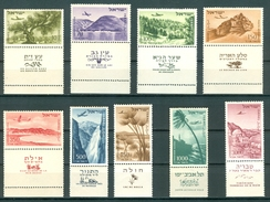 Israel - 1952, Michel/Philex No. : 80-86/138-139, - MNH -  Full Tab - L@@K - Israel