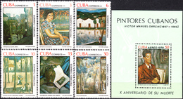 CUBA 1979, PAINTINGS, COMPLETE MNH SET With BLOCK, GOOD QUALITY, *** - Cuba