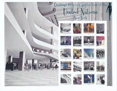 UN New York 2012 Personalized Sheet_S45A. Guided Tour Of The UN New York, ERROR, Se Desc. MNH** - New York - Sede Centrale Delle NU