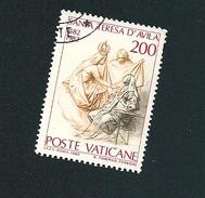 N° 731 Sainte Thérèse D'Avila, Vision Vetement Blanc  Timbre Vatican (1982) Oblitéré - Vaticaanstad