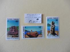 Polynésie  :: Timbres  Neufs  N° 386-387-388- - Polynésie Française