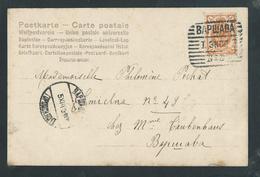 """NN032 - MAUD AMY Ogerau Bouffes Parisiens - Affranchie En 1903 Timbre Oblitéré """" Bapwaba N°3"""" Varsovie Poste N°3 - 1857-1916 Imperium"""