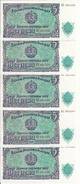 BULGARIE 5 LEVA 1951 UNC P 82 ( 5 Billets ) - Bulgarie