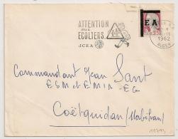Surcharge E A Etat Algérien Sur DECARIS. ALGER Algérie. Sur Enveloppe. 8/11/1962. - France