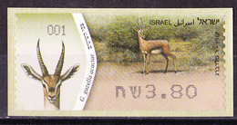 Israel - ATM Mi.Nr. 81 - Postfrisch MNH - Tiere Animals Gazelle - Franking Labels