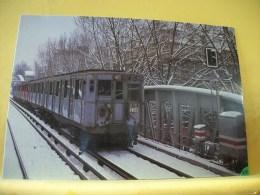 TRAIN 6524 - RAME SPRAGUE GRISE LIGNE N° 2 SOUS LA NEIGE EN 1978.... - Metropolitana