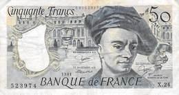 "BILLET De 50 FRANCS ""QUENTIN DE LA TOUR"" DE 1981 Y.24 - 1962-1997 ''Francs''"