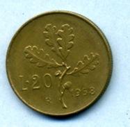 1958  20 LIRES - 20 Lire
