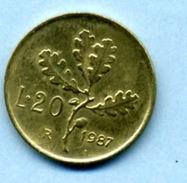 1987  20 LIRES - 20 Lire