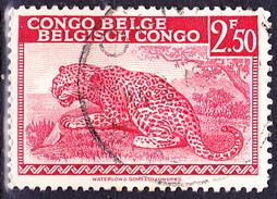 Belgisch-Congo Congo-Belge - Leopard (Panthera Pardus) (MiNr: 237) 1942 - Gest. Used Obl. - 1923-44: Gebraucht