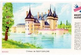 """Buvard Grégoire, Biscottes Allégées. Biscottes """" Aux Martinets """". Illustration : Le Château De Sully Sur Loire. - Biscottes"""