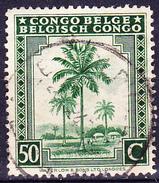 Belgisch-Congo Congo-Belge - Ölpalmen (Elaeis Guineensis) (MiNr: 231) 1942 - Gest. Used Obl. - 1923-44: Usati