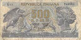 Billet De 500 Lire Cinquecento Italiana 1966 / Billet De Banque D´ Italie , ITALIA - 500 Lire