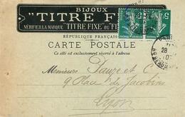 SAVARD & Cie. BIJOUTIER - 22, RUE SAINT GILLES - PARIS 3° ARRONDISSEMENT - CPA COMMERCIALE PUBLICITAIRE - 1907. - Paris (03)