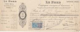Lettre Change 1925 Le Nord Assurances PARIS Pour Goudourville Lalande Tarn Et Garonne - Lettres De Change