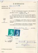 ESPAÑA CORREOS DOCUMENTO RECLAMACION POR FALTA DE FRANQUEO BEASAIN GUIPUZCOA - 1931-Hoy: 2ª República - ... Juan Carlos I