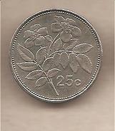 Malta - Moneta Circolata Da 25 Centesimi - 2001 - Malta